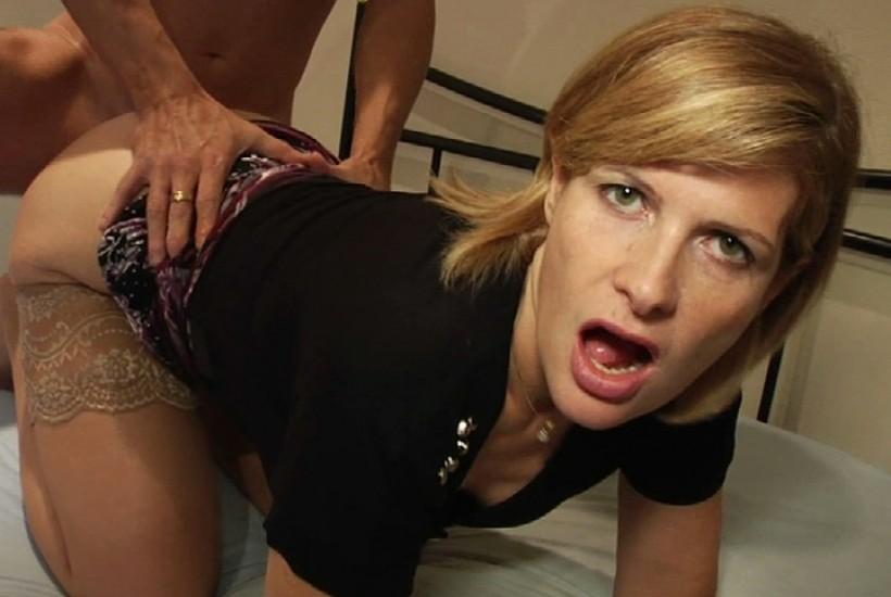 Femme amateur échange vidéo