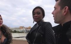 Imane, 25 ans, la bombe black de la Rochelle, offerte à l'hôtel à un vieux pervers ! (Jacquie et Michel)